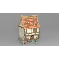 Cartoon house 4 3D Model