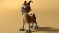 cartoon goat Rigged 3D Model