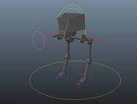 Free Star Wars AT-ST Robot Model 0.0.1 for Maya