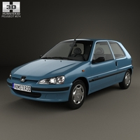 Peugeot 106 Electric 3-door 1993 3D Model