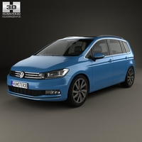 Volkswagen Touran 2015 3D Model