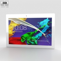 Lenovo Tab 2 A10-70 Pearl White 3D Model
