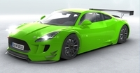 Generic Sports Car GT3 Realtime 3D Model