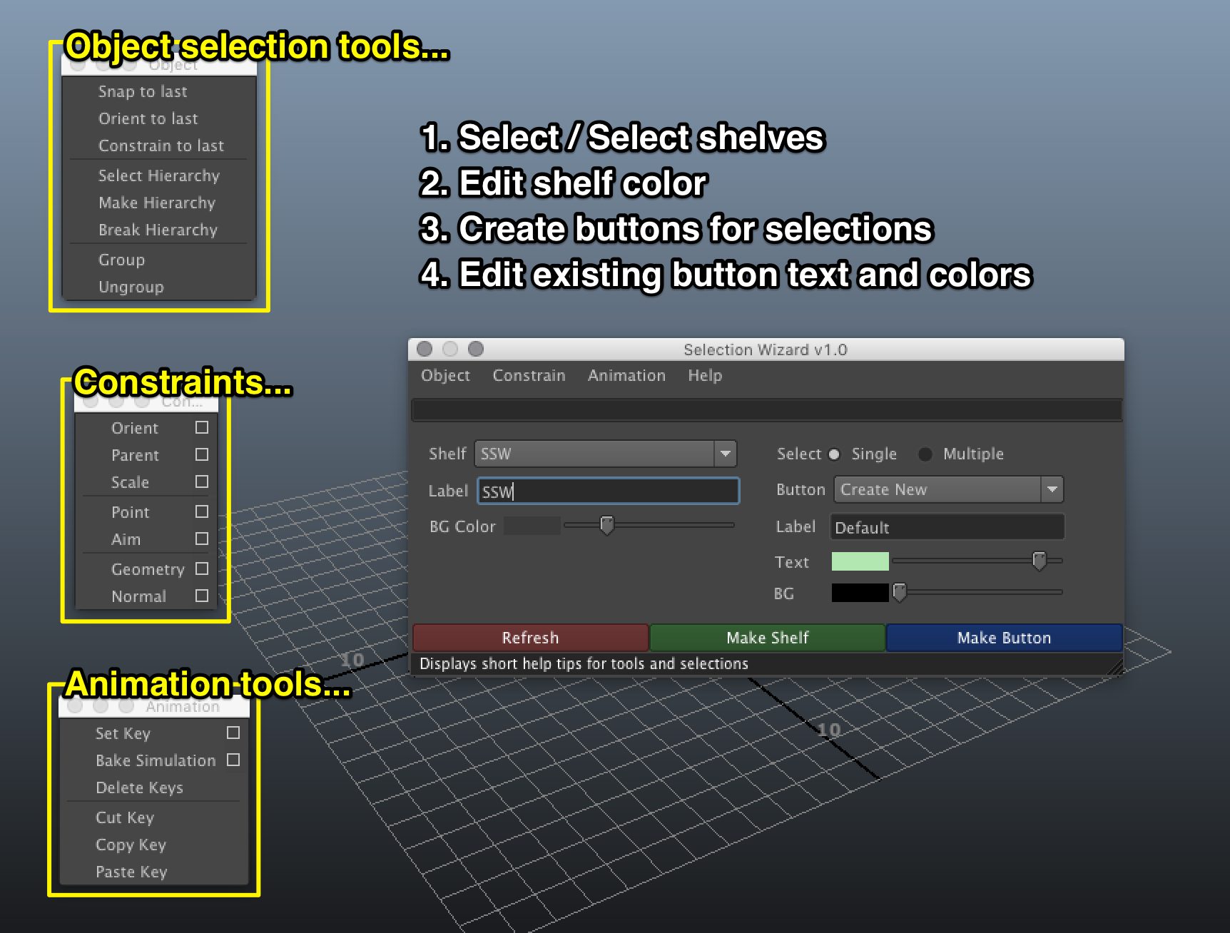 Quick rename tool for Maya - Free Renaming Utility