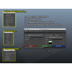 Selection Wizard (Full version) for Maya 1.1.1 (maya script)