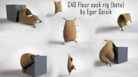 Free Flour sack for C4D (beta) 3D Model