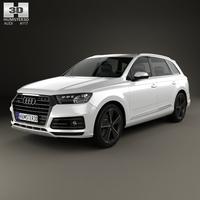 Audi Q7 e-tron 2017 3D Model