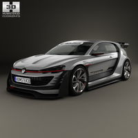 Volkswagen GTI Supersport Vision Gran Turismo 2014 3D Model