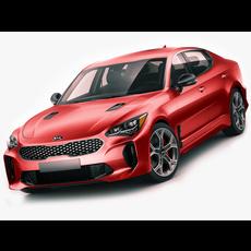 Kia Stinger GT 2017 3D Model