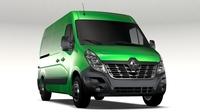 Renault Master L2H2 Van 2017 3D Model