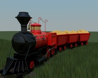 Steam Train. 3D Model