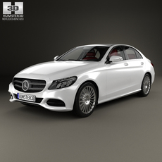 Mercedes-Benz C-Class (W205) sedan with HQ interior 2014 3D Model
