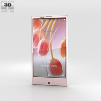 Sharp Aquos Serie SHV32 Pink 3D Model