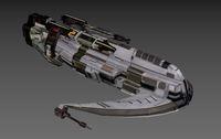 Spaceship Dolphin. 3D Model