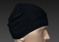 Knitted cap. 3D Model
