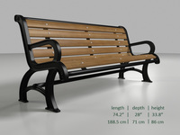 Park bench 5 3D Model