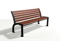 Park bench 2 3D Model