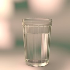 Faceted Drinking Glass, Russia. 3D Model
