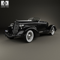 Auburn 851 SC Boattail Speedster 1935 3D Model