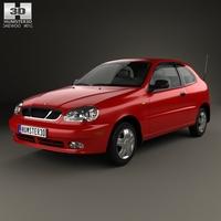 Daewoo Lanos 3-door 1997 3D Model