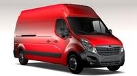 Opel Movano L3H3 Van 2016 3D Model