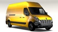 Renault Master L3H3 Van 2010 3D Model