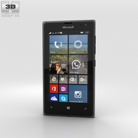Microsoft Lumia 532 Black 3D Model