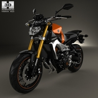 Yamaha MT-09 2014 3D Model