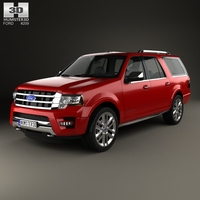 Ford Expedition EL Platinum 2015 3D Model