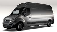 Vauxhall Movano L3H3 Van 2016 3D Model