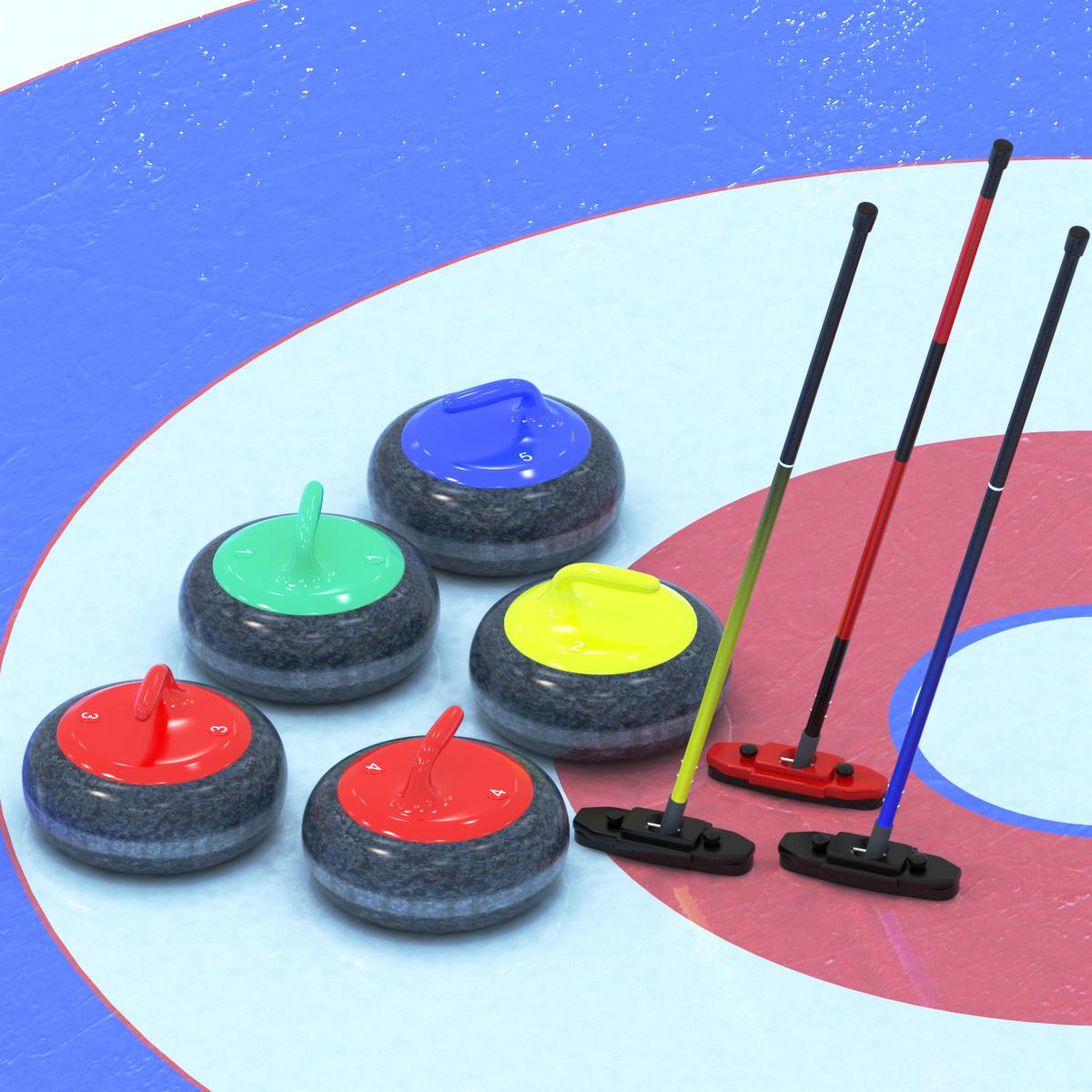 3d model curling equipment