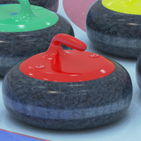 Curling collection 3D Model