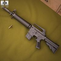 CAR-15 Commando 3D Model