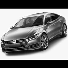 VW Arteon 2018 3D Model