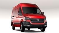 Hyundai H350 Van SWB 2017 3D Model