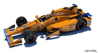 Indycar Alonso 2017 model 3D Model