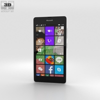 Microsoft Lumia 540 White 3D Model