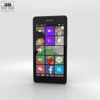 Microsoft Lumia 540 Black 3D Model