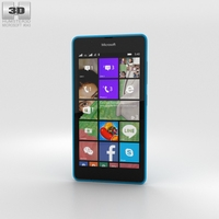 Microsoft Lumia 540 Blue 3D Model