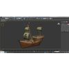 04 22 34 551 low poly cartoon pirate ship textured 3d model low poly max obj 3ds fbx c4d 1  4