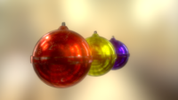 Free 3D X mas Decoration Balls 3D Model