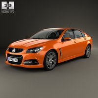 Holden VF Commodore Calais V SSV with HQ interior 2013 3D Model