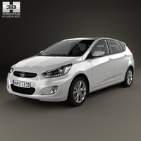 Hyundai Accent (RB) with HQ interior 2014 3D Model