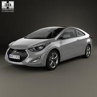 Hyundai Avante (JK) coupe with HQ interior 2014 3D Model