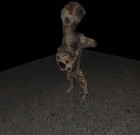 flesheater zombie like rigged character 3D Model