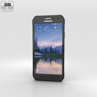 Samsung Galaxy S6 Active Gray 3D Model