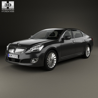 Hyundai Equus (Centennial) with HQ interior 2014 3D Model