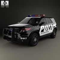 Ford Explorer Police Interceptor Utility 2010 3D Model