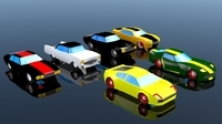 Low Poly Car Pack 03 3D Model