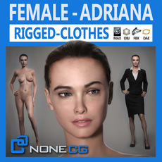 Rigged Adult Female Adriana 3D Model